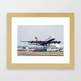 British Airways A380 Framed Art Print