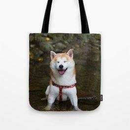KUMA: Shiba In River 2 Tote Bag