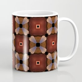 Red Square and White Circle Pattern Coffee Mug