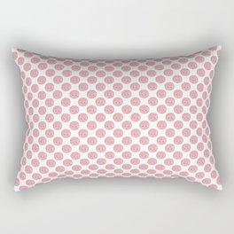 Pink Concha Pan Dulce (Mexican Sweet Bread) Rectangular Pillow