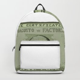 DIE CERTIFICATE Backpack