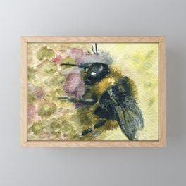 Watercolour Bumble Bee Framed Mini Art Print