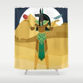 egypt mythology anubis god of the underworld Shower Curtain