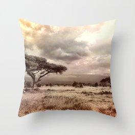 African Savannah Throw Pillow