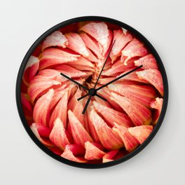Parkland Glory Dahlia 2 Wall Clock