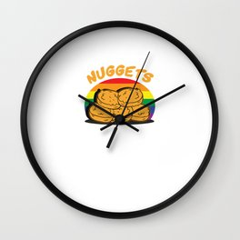 Funny Chicken Nuggets LGBT Wall Clock