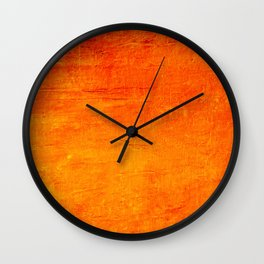 Orange Sunset Textured Acrylic Painting Wall Clock