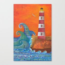 Out of Nowhere Lighthouse Canvas Print
