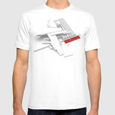 Malevich 3D [B&W] MEDIUM Mens Fitted Tee White