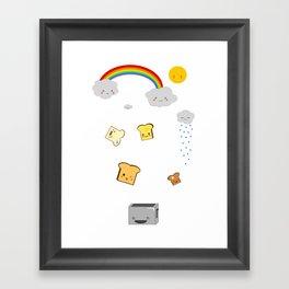Flying Toast Framed Art Print