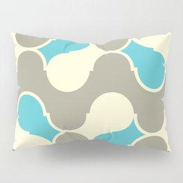 turquoise yellow wave Pillow Sham