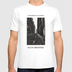 China Lane MANchester Mens Fitted Tee White MEDIUM