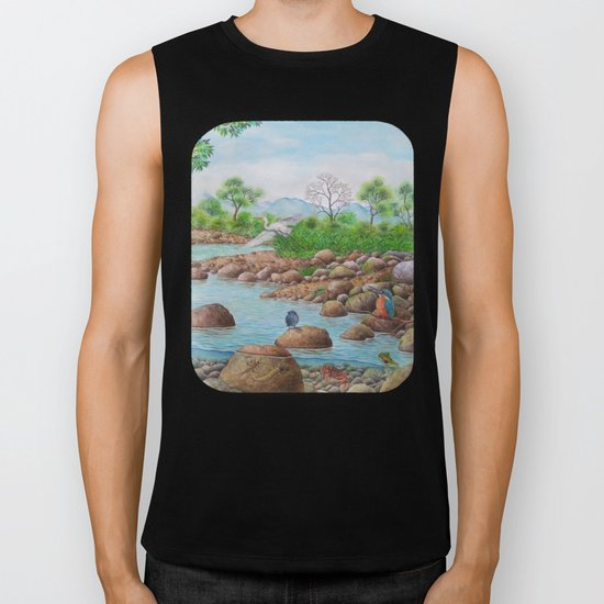 A Day of Forest(7). (the river ecosystem) Biker Tank