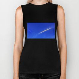 Flash of gold in the sky Biker Tank