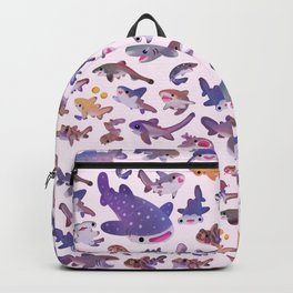Shark day2 - bright Backpack