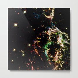 Galactic Electricity Colorful Metal Print