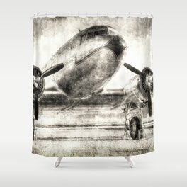 Vintage Aviation Shower Curtain