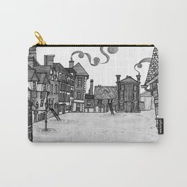 Victorian Frankwell Under Water, black and white Carry-All Pouch