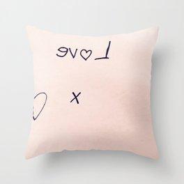 Evol Heart Marker Throw Pillow