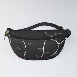 Jagged leaves, asexual pride flag Fanny Pack