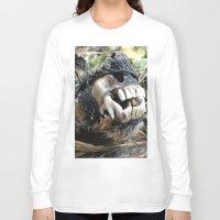 animal skull Long Sleeve T-shirts featuring Animal Skull by CJ Thornburg