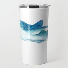 Flying whale shark Travel Mug