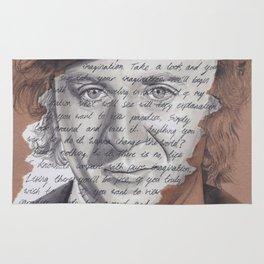 Willy Wonka Portrait with Pure Imagination Lyrics Rug