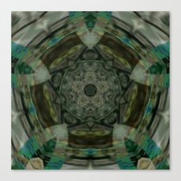 The Green Unsharp Mandala 1 Canvas Print