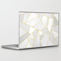 jon snow Laptop & iPad Skins featuring White Stone by Elisabeth Fredriksson