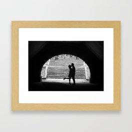 Love Story in Central Park Framed Art Print