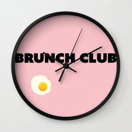 brunch club Wall Clock