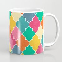 morocco Mugs featuring Morocco Bright by Jacqueline Maldonado
