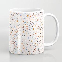 Terrazzo Pattern in Earth and Blues Tones Coffee Mug