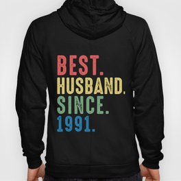 Best. Husband. Since. 1991 28th Wedding Anniversary for Him Hoody