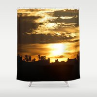 mexican Shower Curtains featuring Mexican Silhouette by Rochester Studios