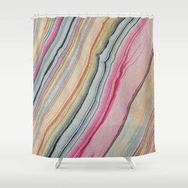 Rainbow Geode Shower Curtain