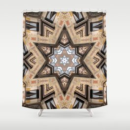 Architectural Star of David Shower Curtain
