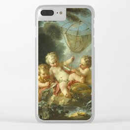Francois Boucher - Putti As Fisherman Clear iPhone Case