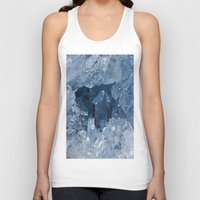 minerals Tank Tops featuring Blue Gemstone by Kristiana Art Prints