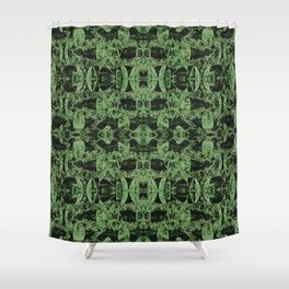 Leaves graphical structures Shower Curtain