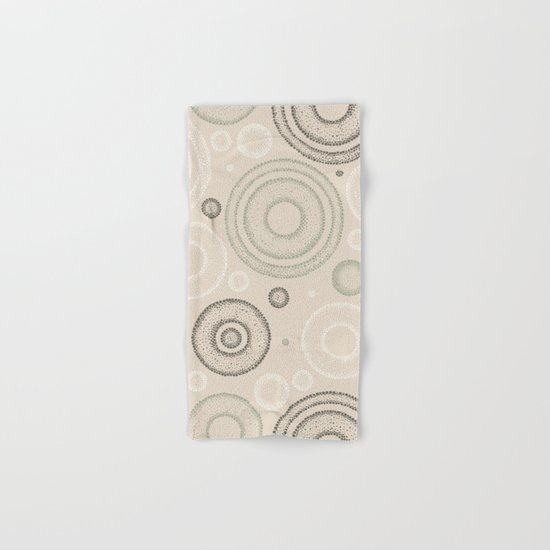 Retro Dotted Pattern 03 Hand & Bath Towel