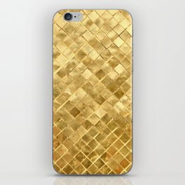 Golden Checkerboard iPhone Skin