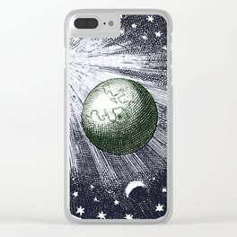 Cosmic stardust Clear iPhone Case
