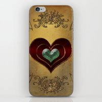 hearts iPhone & iPod Skins featuring Hearts by nicky2342
