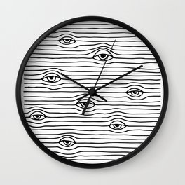 PEEPING TOM [BLK & WHT] Wall Clock