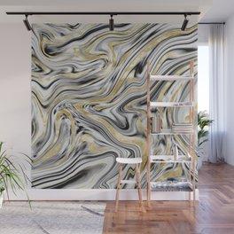 Gray Black White Gold Marble #1 #decor #art #society6 Wall Mural