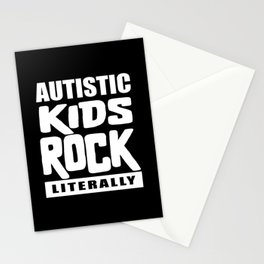 Autism Awareness Autistic Kids Rock Literally Stationery Cards