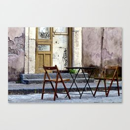 Coffee time in Catania on the Isle of Sicily Canvas Print