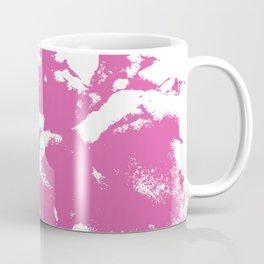 Marble pink 1 Suminagashi watercolor pattern art pisces water wave ocean minimal design Coffee Mug