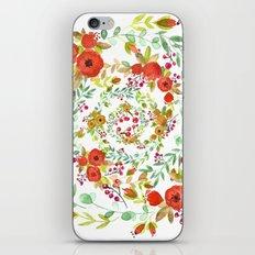 Flowers Circle iPhone Skin